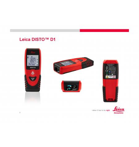 Dalmierz laserowy Leica DISTO D1