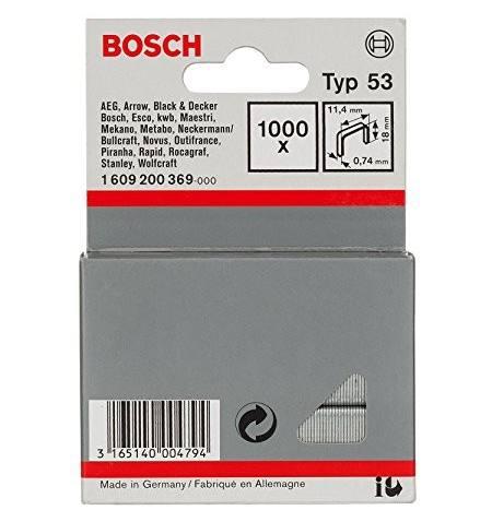 Zszywki Bosch typ 53, 18 mm 1000 szt