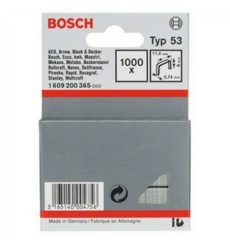 Zszywki Bosch typ 53, 8 mm 1000 szt