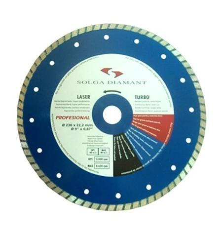 Tarcza diamentowa uniwersalna Solga Turbo Professional Line 230 mm