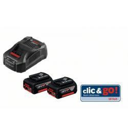 Zestaw startowy akumulatorów Bosch 18V 2x5,0Ah + ładowarka GAL1880CV