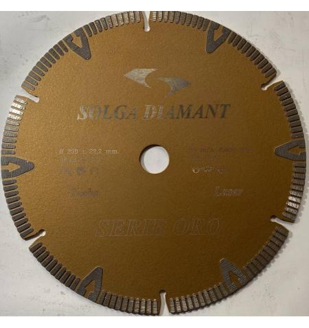 Tarcza diamentowa TURBO Universal Gold Series 230x22,2x2,6x8