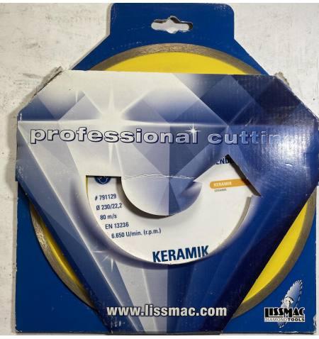 Tarcza diamentowa do ceramiki Lissmac TL CERAMIKA 230 x 22,2 mm