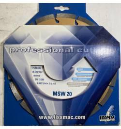 MSW 20 Tarcza DIA do stali D230