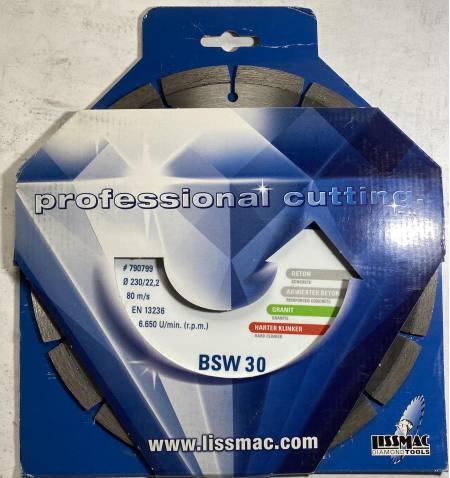 Tarcza diamentowa do betonu Lissmac BSW 30 350 x 22,2mm