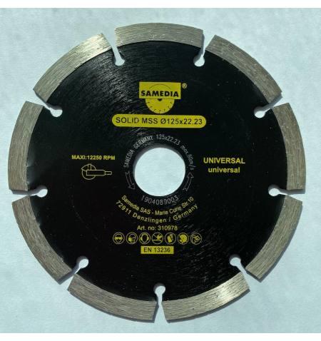 SAMEDIA GERMANY Tarcza diamentowa uniwersalna 125x22,2 37x2,3x8