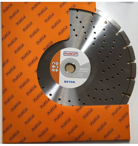 Tarcza diamentowa ProfiCUT do betonu wentylowana z ułożonym diamentem PREMIUM 350x25,4