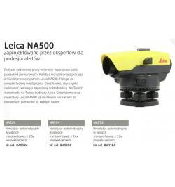 Niwelator optyczny Leica NA 532+statyw+łata+Disto One