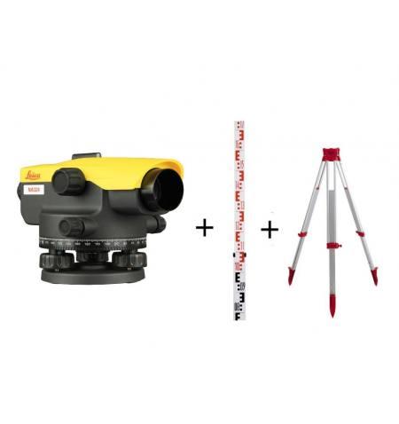 Niwelator optyczny Leica NA324 + statyw 160cm + łata 5 m