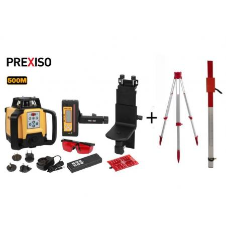 Niwelator laserowy Prexiso PR500HV+Statyw+łata laserowa