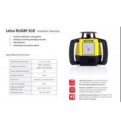 Niwelator laserowy Leica RUGBY 610 + RE160 + aku